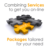 Combining Services to get you on-line. Packages tailored for your needs